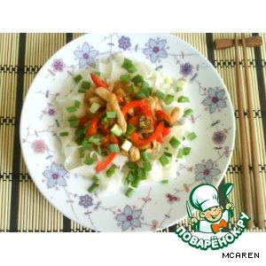Курочка с овощами в устричном соусе