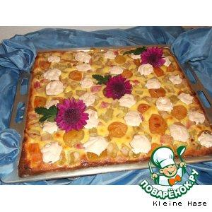 Абрикосово-ревеневый пирог