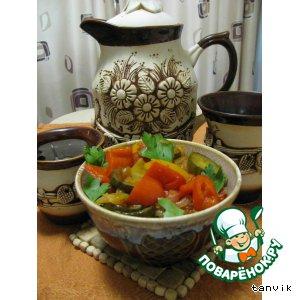 Овощное рагу с огурцами