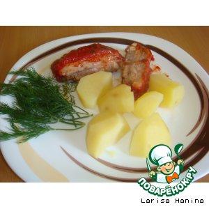 Свиные ребрышки в томатно-медовом соусе