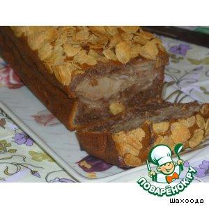 Пирог с яблоками и кукурузными хлопьями