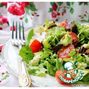 "Теплый салат ""Проще некуда"""