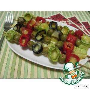 Шашлычки из овощей с сыром