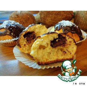 Кокосовые кексы с шоколадом