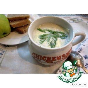 Сладкий суп-пюре с яблоком и кабачком