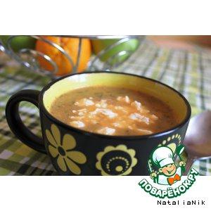 Суп-пюре из печeных баклажанов и помидоров