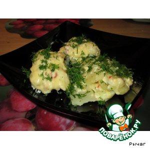 Куриные рулетики с картошкой под сырной шубкой в рукаве