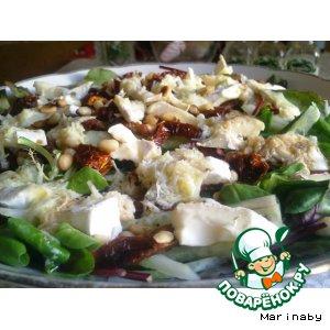 Салат с вялеными (сушеными) помидорами