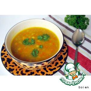 Пряный овощной суп с тыквой и нутом
