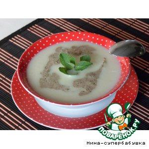 Суп-пюре из фенхеля со сливочной мятой