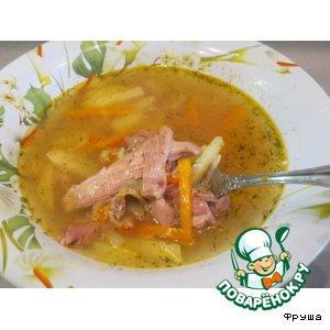 Суп из молодого петушка