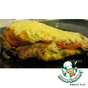 Куриная отбивная в сыре и томате PLATINUM