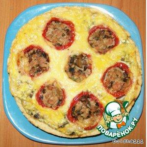 Пирог с фаршированными помидорами