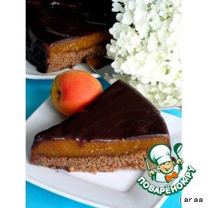 Шоколадный торт с абрикосовой прослойкой