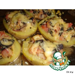 Запеченный картофель с сырным колпачком