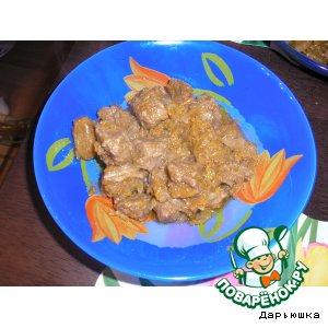 Мясо, тушеное с изюмом