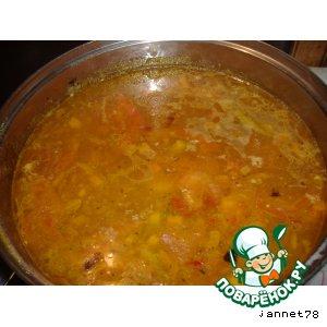 Суп с сырными фрикадельками