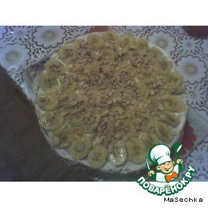 Бананово-ореховый тортик на скорую руку