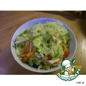 Простецкий овощной салат