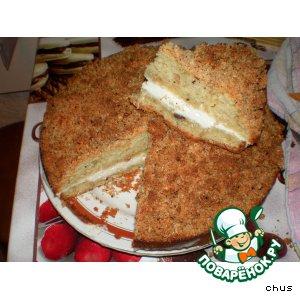 Яблочный пирог с лесным орехом