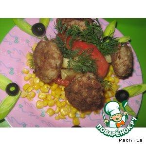 """Картофель """"Грибочки в лукошке"""""""