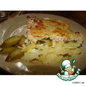 Картофель под мясной шубкой