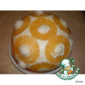 Ананасовый торт с рисовой начинкой