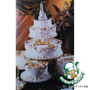 Свадебный торт или торт ко дню рождения