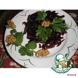 Салат свекольный с ореховой заправкой