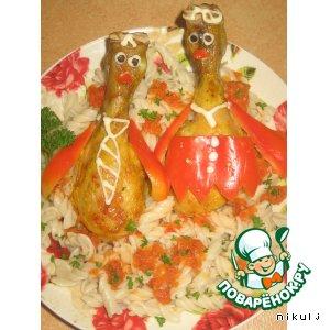 Курица в карамели