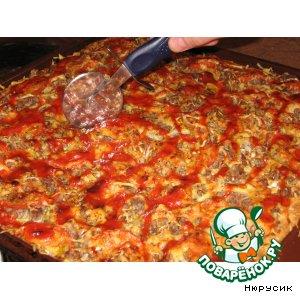 Пицца с капустой