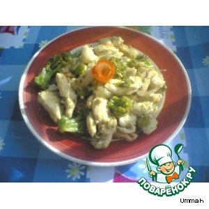 Грудинка курицы с брокколи