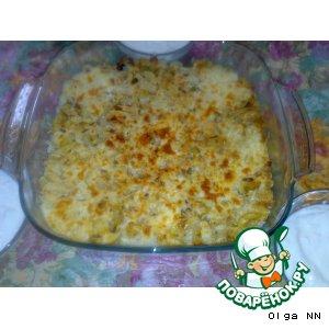Рисово-грибная запеканка