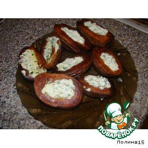 Картошка фаршированная, печенная в мундире