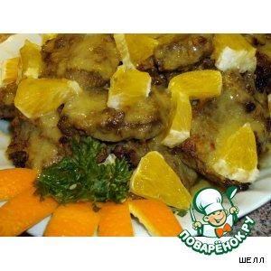 Жареная печень с апельсиновым соусом