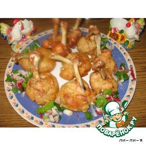 Крылатые пончики из курицы