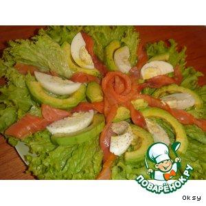 """Салат из авокадо """"Цветок страсти"""""""
