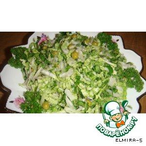 Салат из китайской капусты с редькой