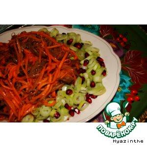 А-ля корейский салат из моркови с баклажаном