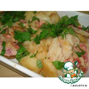 Бычки морские жареные с картошкой