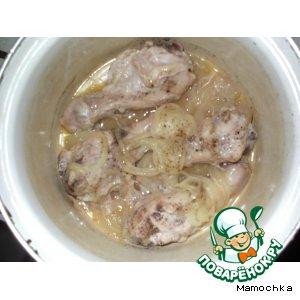 Ленивая курица в луковом соусе