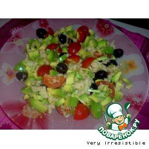 Салат с авокадо и мясом криля