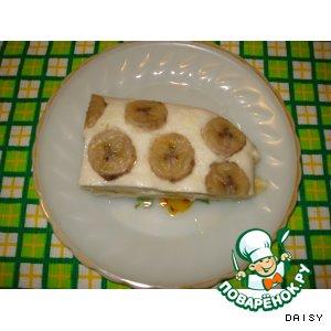 Творожная запеканка с бананами