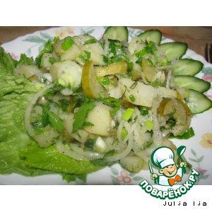 """Тeплый салат """"Картофелино"""""""