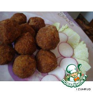 Колобки картофельные с куриными желудками