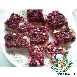 Пирог вишневый с овсяными хлопьями