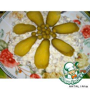 Салатик из куриных желудочков