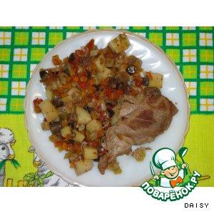 Мясо с овощами «Для лентяйки»