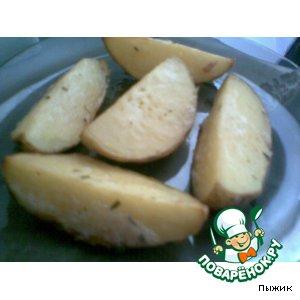 Картофель с орегано, запеченный четвертинками