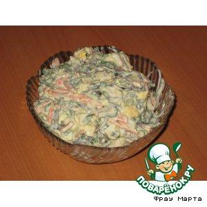 Новый крабовый салатик